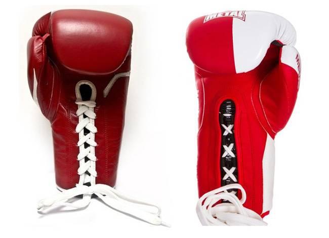 gants boxe lacet avec et sans trous respirant